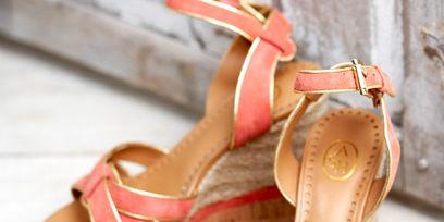 Footwear, Brown, Product, Shoe, Red, Pink, High heels, Sandal, Tan, Beauty,