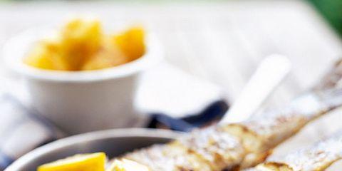 Food, Cuisine, Ingredient, Tableware, Dishware, Citrus, Seafood, Dish, Breakfast, Recipe,
