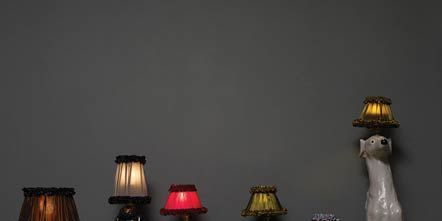 Lighting, Interior design, Lampshade, Interior design, Lighting accessory, Lamp, Grey, Artifact, Ceramic, Still life photography,
