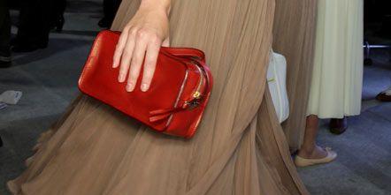Human leg, Shoe, Textile, Joint, Floor, Red, Flooring, Carmine, Bag, Fashion,