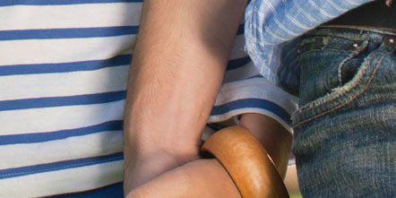 Finger, Denim, Wrist, Hand, Jeans, Joint, Nail, Thumb, Gesture, Waist,