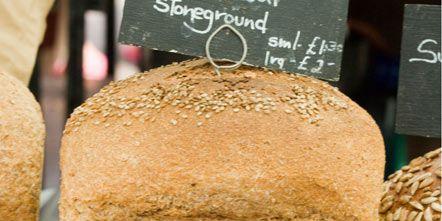Bread, Food, Ingredient, Public space, Cuisine, Gluten, Loaf, Brown bread, Graham bread, Rye bread,