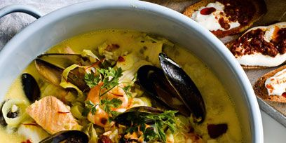 Food, Cuisine, Soup, Dish, Recipe, Seafood, Ingredient, Serveware, Stew, Bowl,