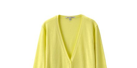 Product, Yellow, Sleeve, Textile, Outerwear, Collar, Sweater, Pattern, Fashion, Cardigan,