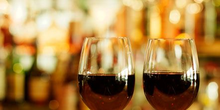 Glass, Stemware, Drinkware, Wine glass, Barware, Drink, Dessert wine, Alcoholic beverage, Red wine, Fluid,