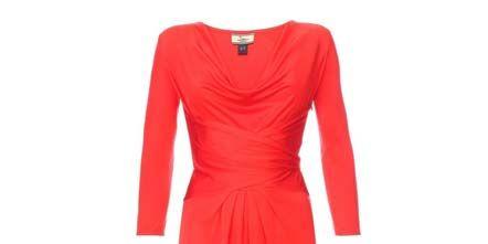 Sleeve, Dress, Shoulder, Textile, Red, One-piece garment, Formal wear, Style, Pattern, Orange,