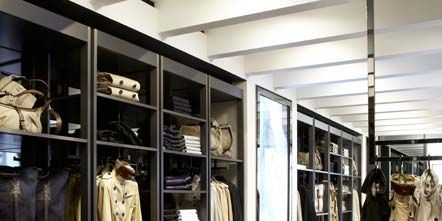 Clothes hanger, Retail, Boutique, Collection, Outlet store, Display case, Display window, Wood flooring, Laminate flooring,