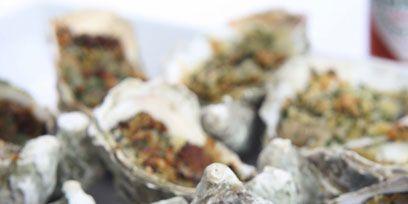 Food, Ingredient, Dish, Recipe, Oyster, Finger food, Oysters rockefeller, Seafood, Bivalve, Natural material,