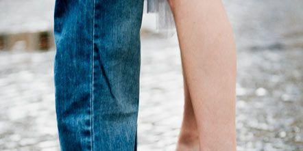 Clothing, Leg, Human, Blue, Denim, Human leg, Trousers, Jeans, Textile, Shoe,