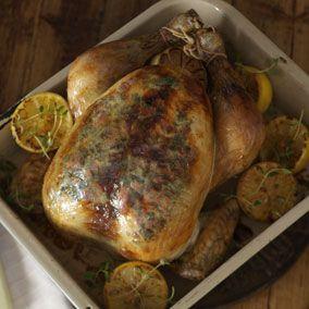 Garlic, Herb, Pimento & Lemon Roast Chicken