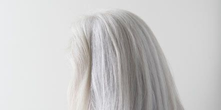 Hairstyle, Shoulder, Joint, Back, Neck, Blond, Muscle, Long hair, Grey, Brown hair,
