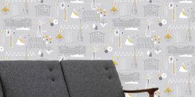 Floor, Wall, Flooring, Rectangle, Design, Armrest, Wallpaper, Carpet,