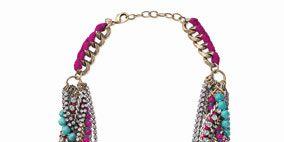 Magenta, Jewellery, Pink, Fashion accessory, Violet, Aqua, Natural material, Purple, Fashion, Teal,
