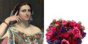 Petal, Bouquet, Jewellery, Dress, Style, Cut flowers, Purple, Flowering plant, Flower Arranging, Day dress,
