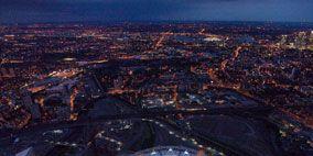 Urban area, Infrastructure, Atmosphere, Sport venue, Landscape, City, Bird's-eye view, Aerial photography, Urban design, Landmark,
