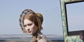 Human, Textile, Grass family, Vintage clothing, Headpiece, Hair accessory, Portrait, Fur, Display device, Prairie,