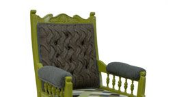 Green, Furniture, Chair, Outdoor furniture, Armrest, Club chair, Futon pad, Outdoor sofa, Wicker,