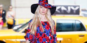 Clothing, Tire, Hat, Dress, Red, Style, Sun hat, Street fashion, Headgear, Costume accessory,
