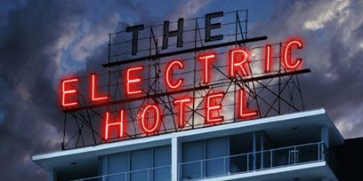 Property, Facade, Commercial building, Landmark, Electronic signage, Signage, Neon, Neon sign, Company, Tower block,