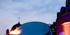 Landmark, Street light, Dome, Dome, Cylinder,