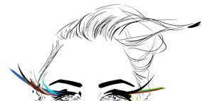 Nose, Ear, Lip, Cheek, Hairstyle, Chin, Forehead, Eyebrow, Eyelash, White,