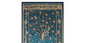 Teal, Pattern, Art, Visual arts, Creative arts, Motif, Symmetry, Painting, Symbol, Plant stem,