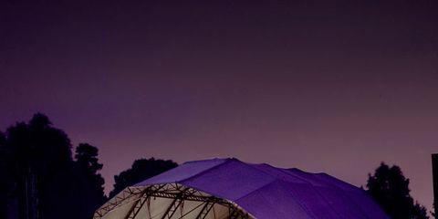 Purple, Violet, Magenta, Stage, Crowd, Audience, Lavender, Music venue, Tent, Performing arts center,