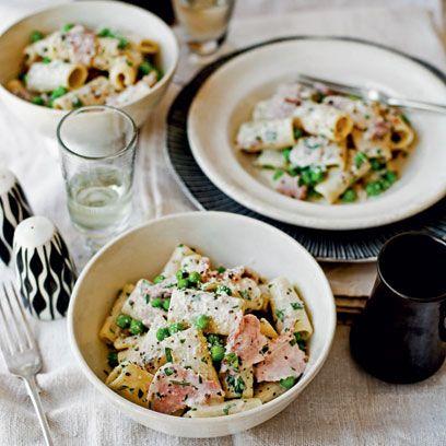 pasta with ham and peas recipe