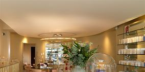 Product, Property, Interior design, Shelf, Ceiling, Shelving, Real estate, Retail, Light fixture, Interior design,