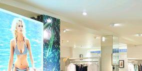 Floor, Room, Flooring, Interior design, Ceiling, Swimwear, Lingerie, Undergarment, Advertising, Clothes hanger,