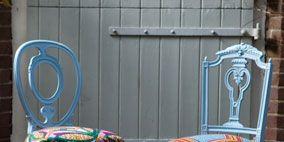 Furniture, Teal, Chair, Outdoor furniture, Armrest,