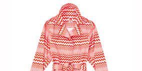 Sleeve, Collar, Pattern, Textile, Style, Orange, Fashion, Peach, Maroon, One-piece garment,