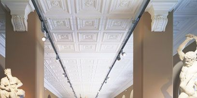 Interior design, Architecture, Floor, Ceiling, Sculpture, Flooring, Light fixture, Hall, Interior design, Lobby,