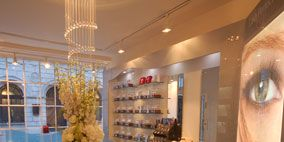 Interior design, Room, Furniture, Interior design, Light fixture, Ceiling, Glass, Shelf, Chandelier, Ceiling fixture,
