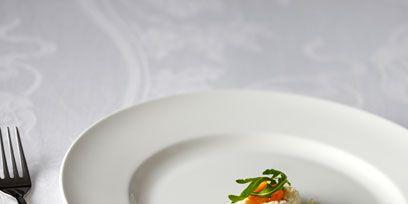 Dishware, Serveware, Food, Tableware, White, Ingredient, Cutlery, Cuisine, Plate, Dish,