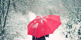 Winter, Sleeve, Umbrella, Pattern, Art, Snow, Rain, Freezing, Painting, Precipitation,