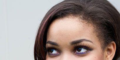 Hair, Lip, Cheek, Earrings, Hairstyle, Skin, Chin, Forehead, Eyebrow, Jewellery,