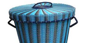 Blue, Line, Turquoise, Aqua, Teal, Azure, Electric blue, Still life photography, Wicker,