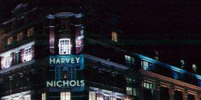 Blue, Architecture, Facade, Property, Night, City, Metropolitan area, Colorfulness, Commercial building, Urban area,