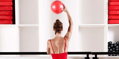 Shoulder, Human leg, Physical fitness, Elbow, Wrist, Joint, Red, Sportswear, Waist, Room,