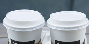 Product, Drinkware, White, Cup, Plastic, Logo, Lid, Cup, Tumbler, Fast food,