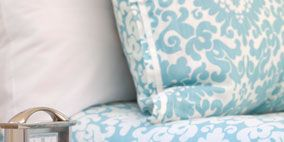 Blue, Room, Turquoise, Teal, Azure, Aqua, Couch, Office equipment, Living room, Design,