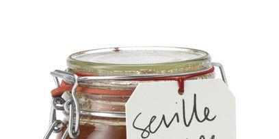 Ingredient, Mason jar, Food storage containers, Condiment, Lid, Metal, Fruit preserve, Preserved food, Silver, Food storage,