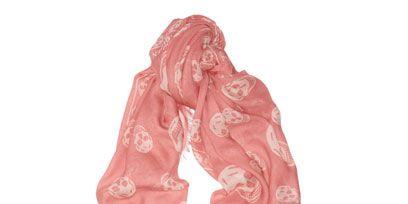 Stole, Wrap, Shawl, Peach, Scarf, Embellishment, Lace, Silk,