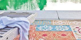 Flooring, Floor, Textile, Pattern, Rug, Denim, Teal, Carpet, Motif, Visual arts,