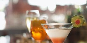 Liquid, Drinkware, Glass, Drink, Alcoholic beverage, Martini glass, Tableware, Stemware, Barware, Classic cocktail,
