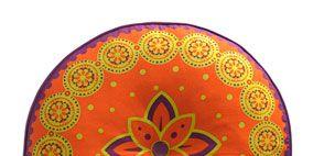 Pattern, Orange, Dishware, Amber, Serveware, Art, Motif, Circle, Visual arts, Peach,