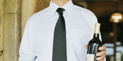 Product, Dress shirt, Collar, Sleeve, Shirt, Bottle, Drink, Tie, Glass bottle, Wine bottle,