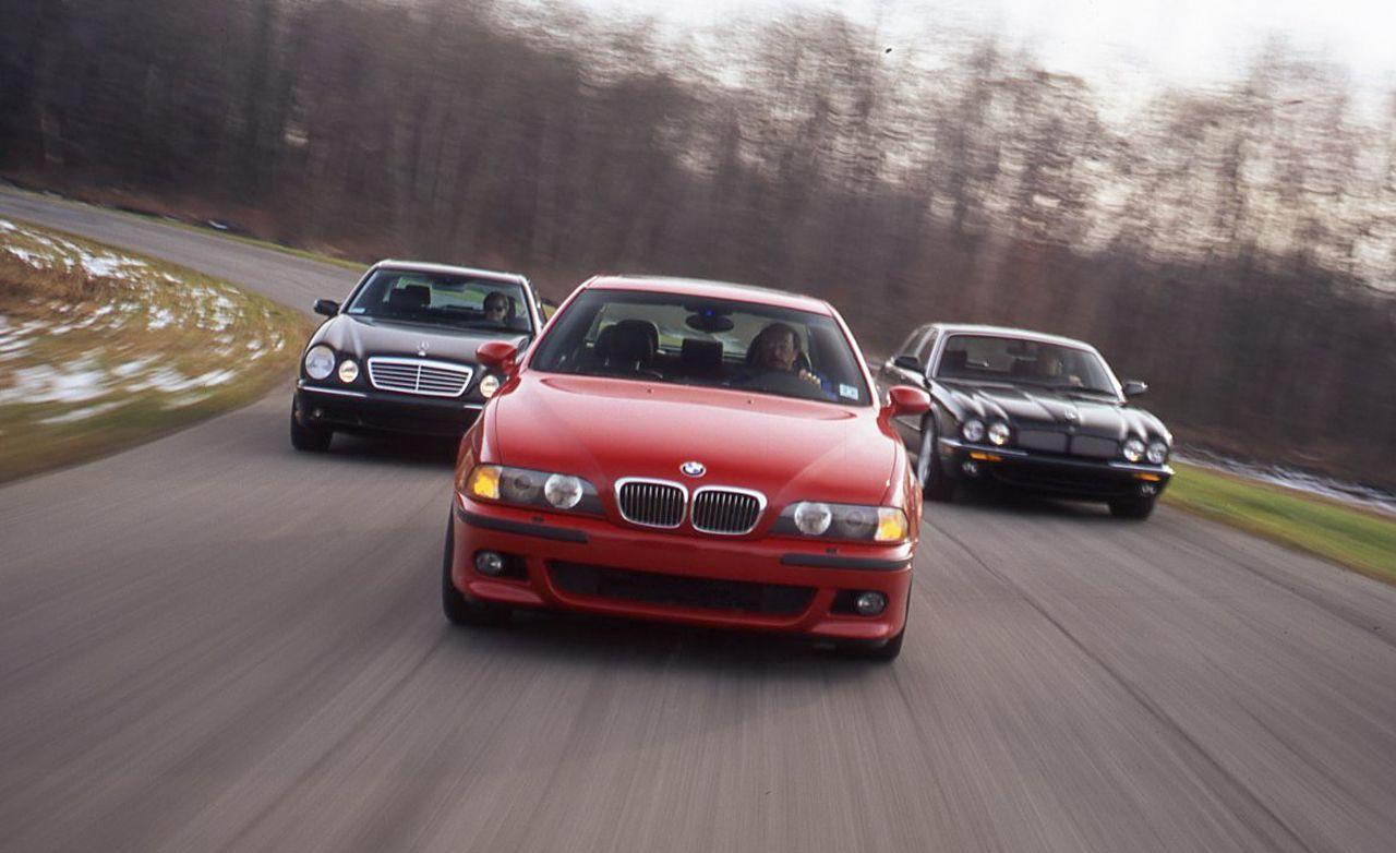 BMW Convertible bmw m5 vs mercedes e63 2000 BMW M5 vs. 2000 Mercedes-Benz E55 AMG, 2000 Jaguar XJR ...