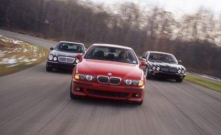 2000 BMW M5 vs. 2000 Mercedes-Benz E55 AMG, 2000 Jaguar XJR